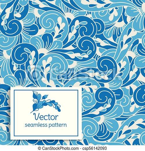 壁紙, 織物, 偉人, ∥あるいは∥, 生地, pattern., 抽象的, ornament., vintage., seamless, leaves., 包装, 切望された, idea., 定型, (どれ・何・誰)も - csp56142093