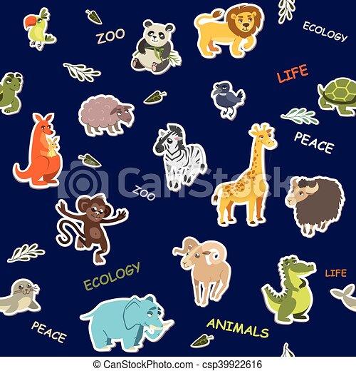 壁紙 Seamless イラスト 暗い バックグラウンド ベクトル 動物