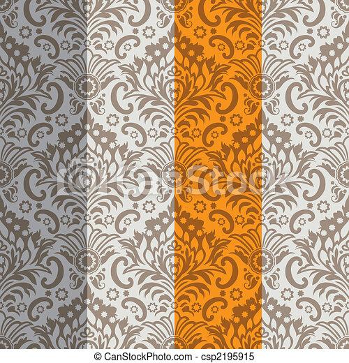 壁紙, seamless, 背景, クラシック - csp2195915