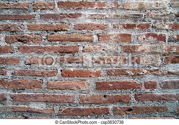 壁, れんが, 台なし, 背景, pompeian - csp3630736