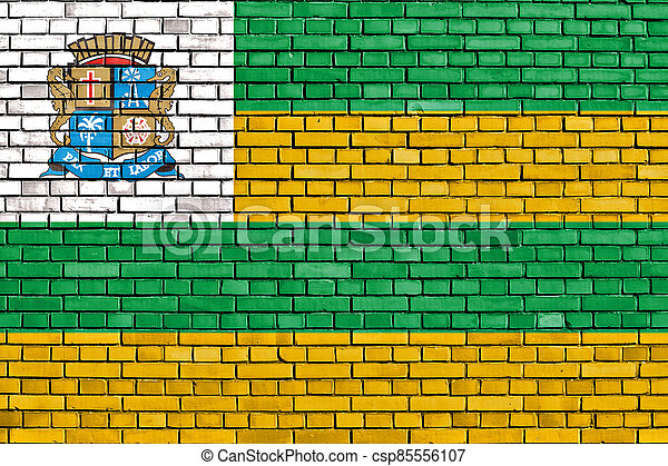 壁, れんが, aracaju, 旗, ペイントされた - csp85556107