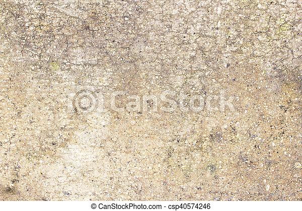 壁, 古い, グランジ, セメント, 背景 - csp40574246
