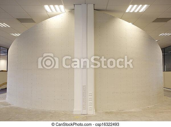 壁, 曲がった, ある, constructed - csp16322493