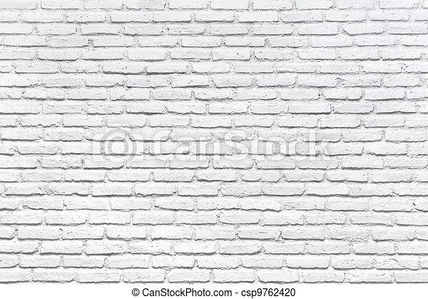 壁, 白い煉瓦, 背景 - csp9762420