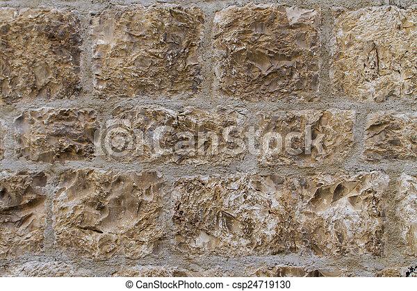 壁, 石のきめ - csp24719130