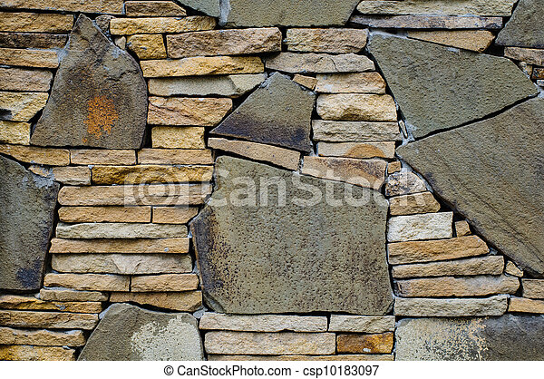 壁, 石, モザイク - csp10183097