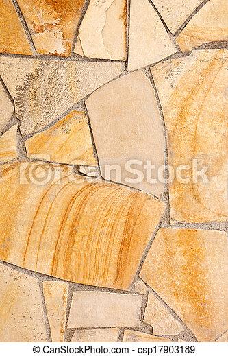 壁, 石, 内側を覆われた, 斑岩 - csp17903189
