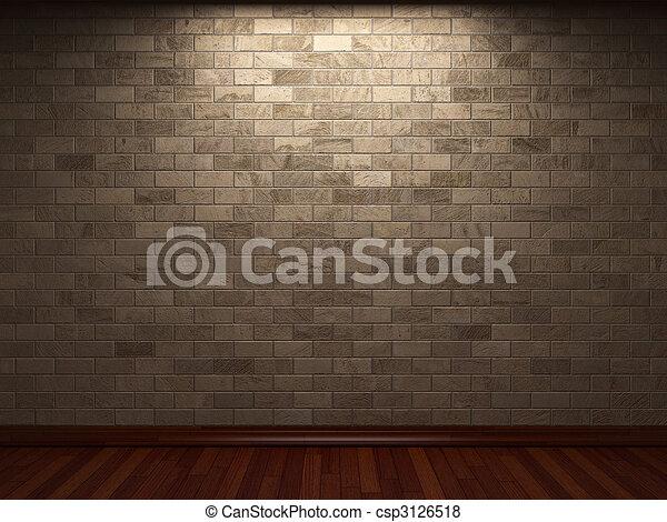 壁, 石, 照らされた - csp3126518