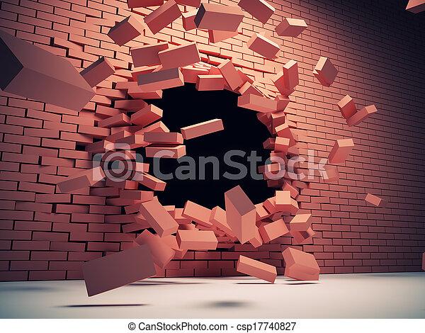 壁, 破壊 - csp17740827