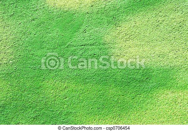 壁, 緑の背景 - csp0706454