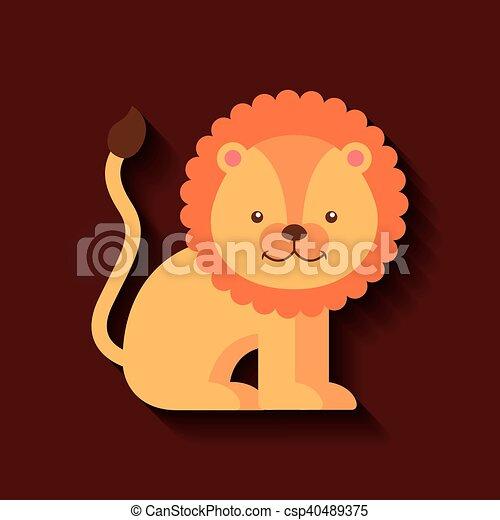売りに出しなさい かわいい ライオン カード アイコン かわいい