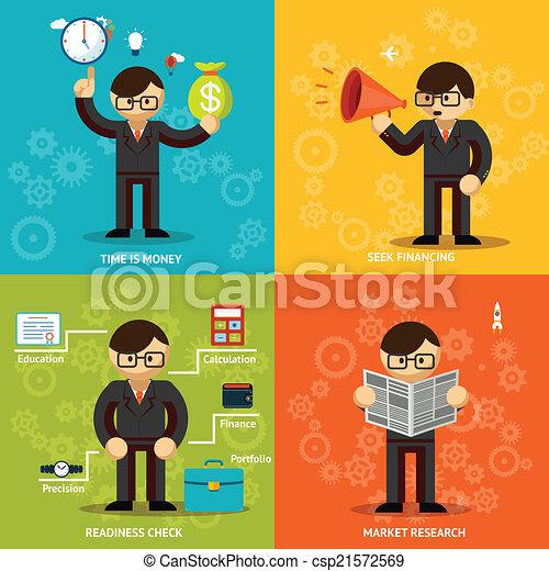 変化, 背景, 有色人種, アイコン, ビジネスマン - csp21572569