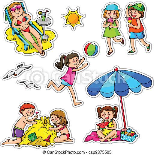 夏の 子供 - csp9375505