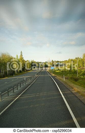 夏天, 晚上, 路, 國家 - csp5299034