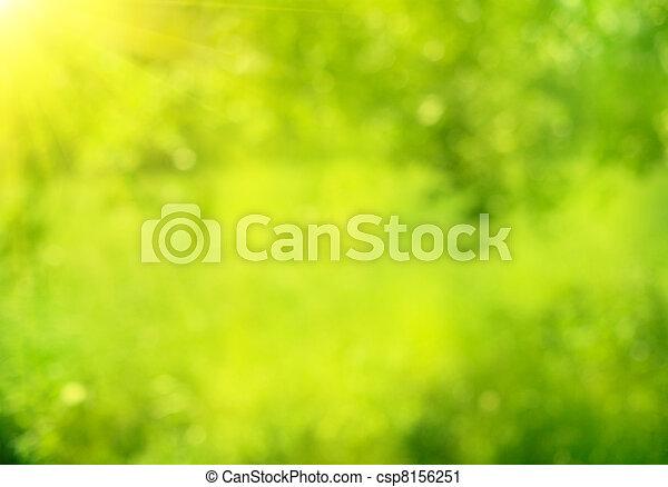 夏天, 自然, 摘要, bokeh, 綠色的背景 - csp8156251