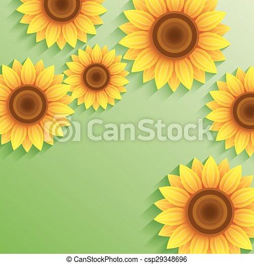夏 ひまわり 自然 緑の背景 3d 美しい 夏 現代 明るい 最新流行である Card Flowers ひまわり 場所 3d 自然 Text イラスト 定型 背景 花 Wallpaper