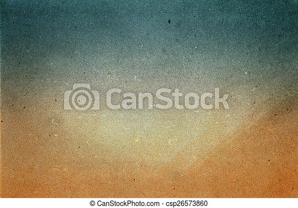 夏, グランジ, パパ, 抽象的, リサイクルされる, ペーパー, 設計された, 浜, texture. - csp26573860