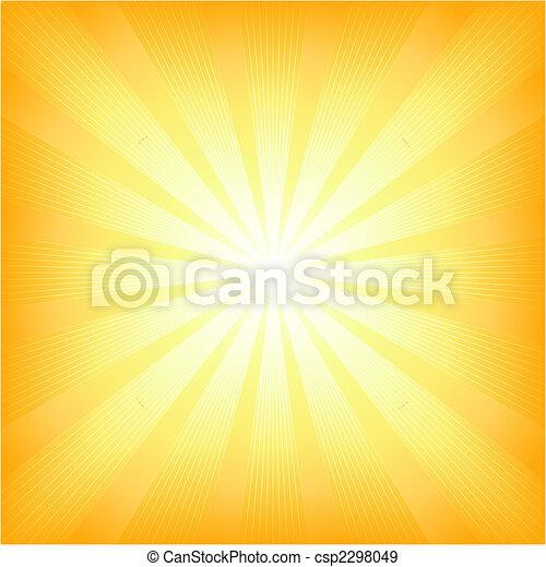 夏, 太陽, 広場, ライト 破烈 - csp2298049