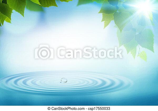 夏, 抽象的, 背景, 環境, デザイン, 雨, あなたの - csp17550033