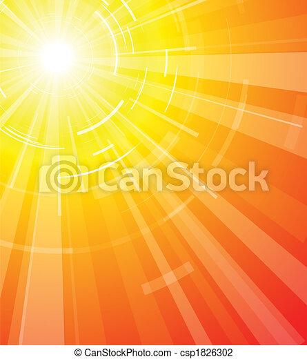 夏, 暑い, 太陽 - csp1826302