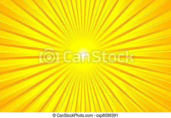 夏, 暑い, 照ること, 太陽 - csp8098391