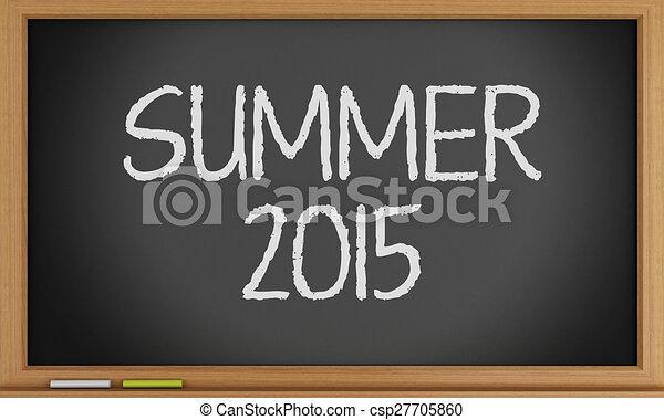 夏, 書かれた, blackboard. - csp27705860