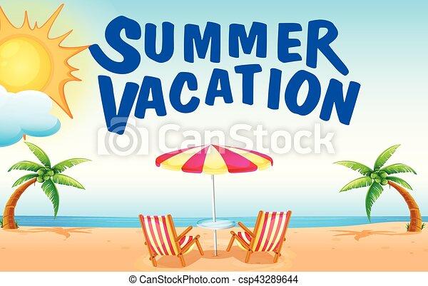 夏, 浜の 休暇 - csp43289644