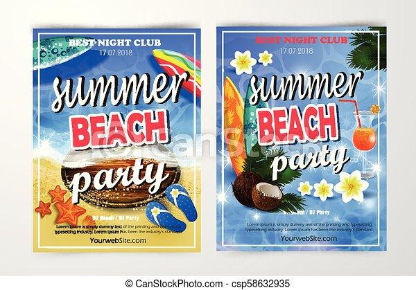 夏, 浜 党, 背景, ポスター - csp58632935