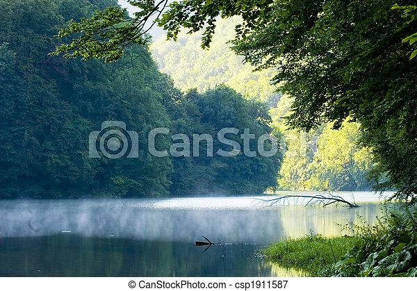 夏, 湖, 朝 - csp1911587