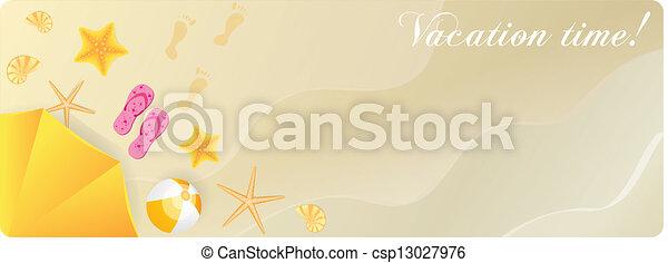 夏, 砂, 旗 - csp13027976