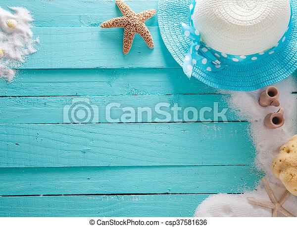 夏, 背景 - csp37581636