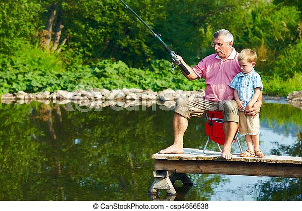 夏, 釣り - csp4656538