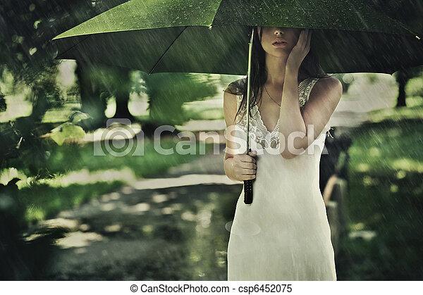 夏, 雨 - csp6452075