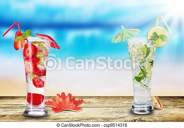 夏, 飲みなさい - csp9514316