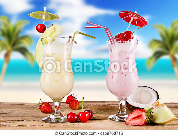 夏, 飲み物 - csp9768716