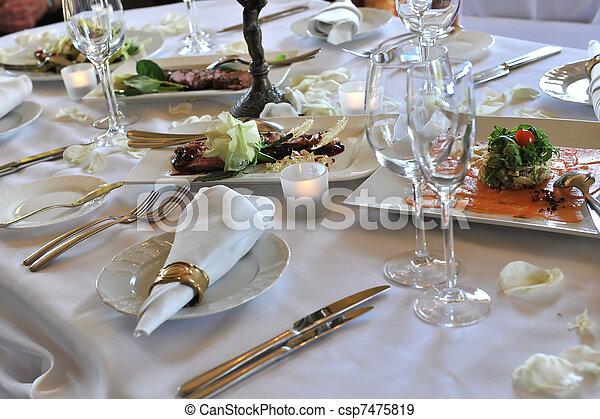 夕食, 結婚式 - csp7475819