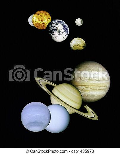 外の, 惑星, space. - csp1435970