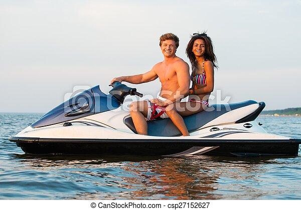 多国籍, 恋人, スキー, ジェット機, モデル - csp27152627
