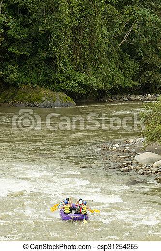 多数, whitewater の いかだで運ぶこと, 旅行, 家族 - csp31254265