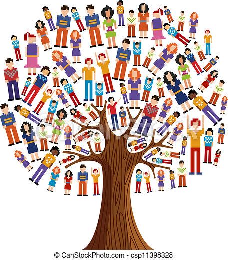 多様性, 木, ピクセル, 人間 - csp11398328