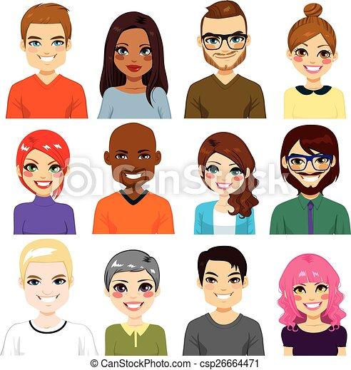 多様, avatar, コレクション - csp26664471