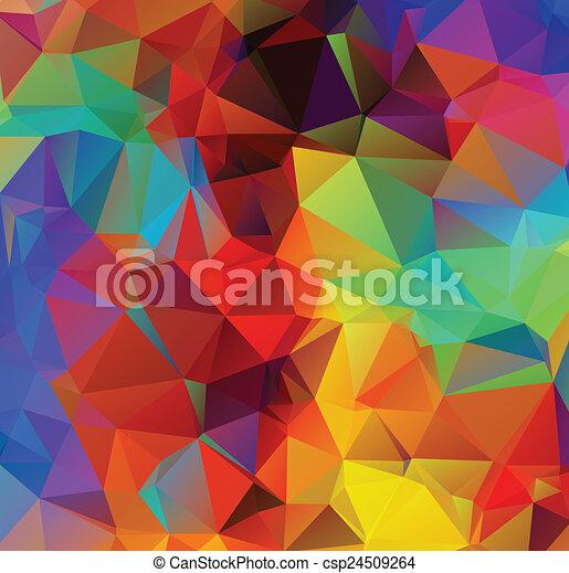 多色刷り, 幾何学的, 背景 - csp24509264