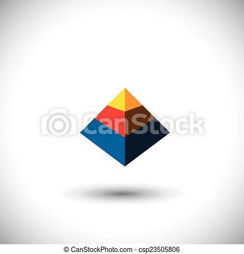 多面体, 概念, 三角形, アイコン, 形, ベクトル, y, 作られた, 3d - csp23505806
