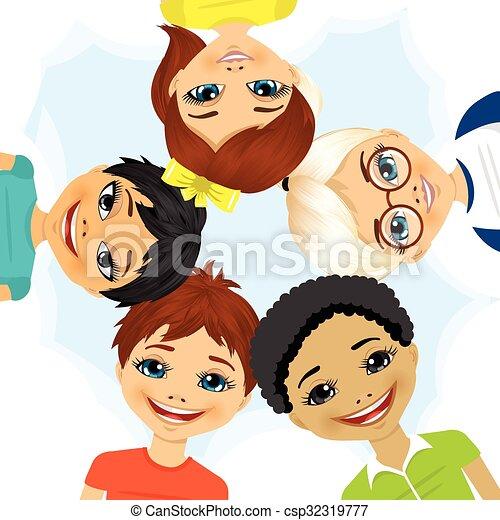 多 民族, できる, 円, グループ, 子供 - csp32319777