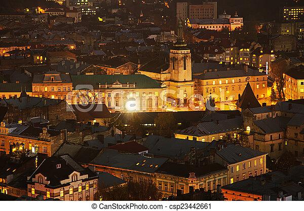 夜晚, lviv - csp23442661