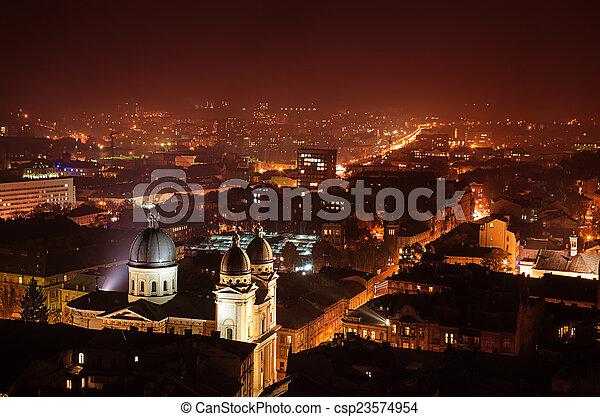 夜晚, lviv - csp23574954