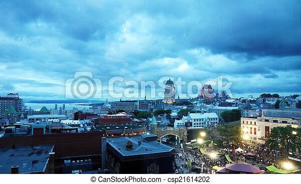 夜, 古い, ケベック, でき事 - csp21614202