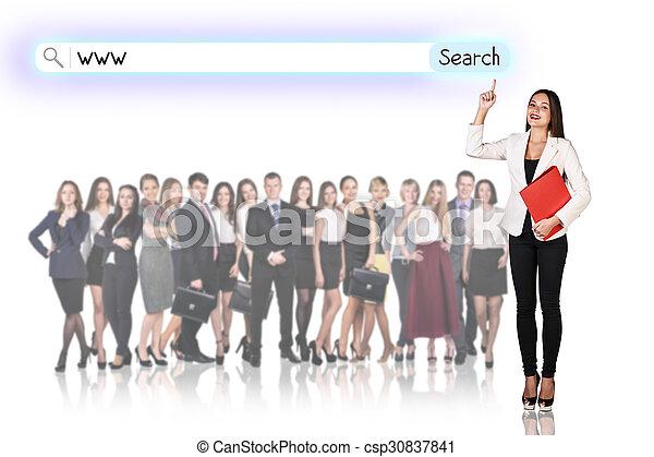 大きいグループ, ビジネス 人々 - csp30837841