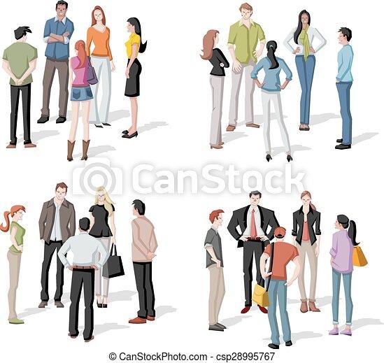 大きい会合, グループ, 人々 - csp28995767