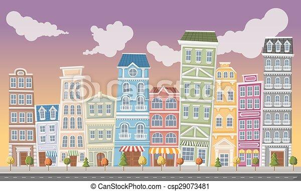 大きい, カラフルである, 風景, 都市 - csp29073481
